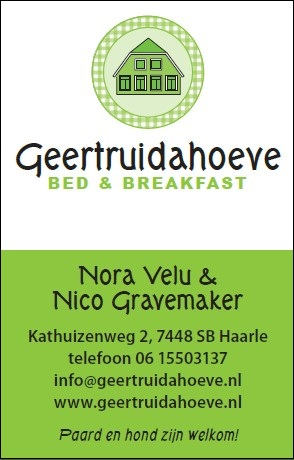 Ons adres: Kathuizenweg 2, 7448 SB Haarle, tel: 06-15503137